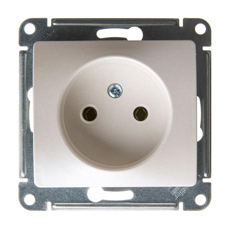 Schneider Electric Розетка без заземления перламутровый Glossa