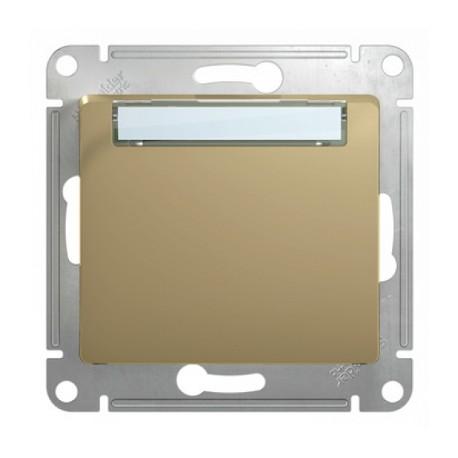 Schneider Electric Кнопка нажимная с табличкой титан Glossa