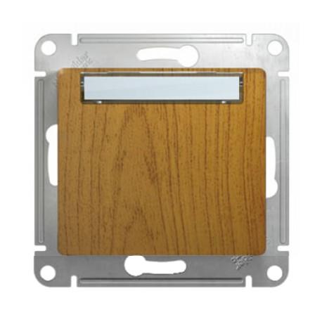 Schneider Electric Кнопка нажимная с табличкой дуб Glossa