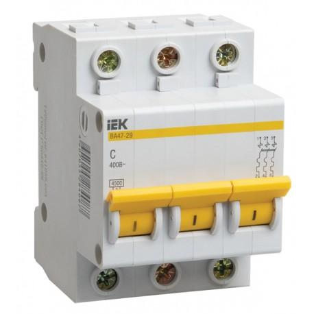 Автоматический выключатель IEK BA47-29 3x6А