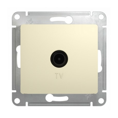 Schneider Electric Розетка TV оконечная 1 dB бежевый Glossa