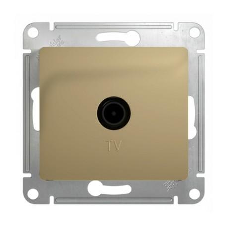 Schneider Electric Розетка TV оконечная 1 dB титан Glossa