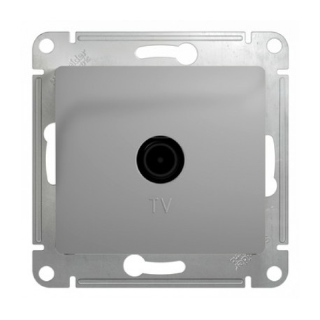 Schneider Electric Розетка TV проходная 4 dB алюминий Glossa