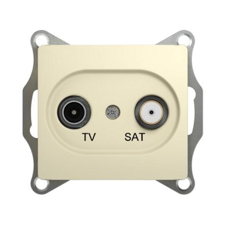Schneider Electric Розетка TV/SAT оконечная 1 dB бежевый Glossa