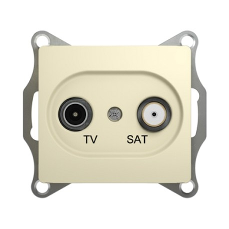 Schneider Electric Розетка TV/SAT проходная 4 dB бежевый Glossa