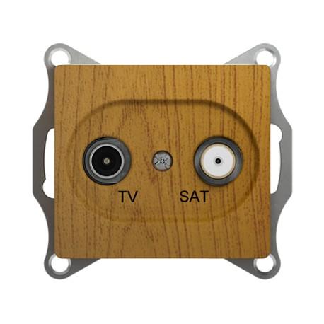 Schneider Electric Розетка TV/SAT проходная 4 dB дуб Glossa