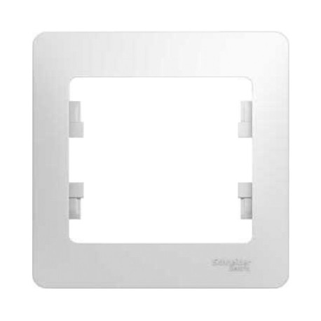 Schneider Electric Рамка 1 пост белый Glossa