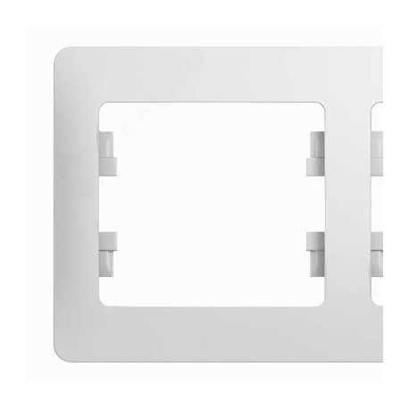 Schneider Electric Рамка горизонтальная 3 поста белый Glossa