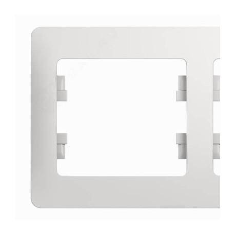Schneider Electric Рамка горизонтальная 5 постов белый Glossa