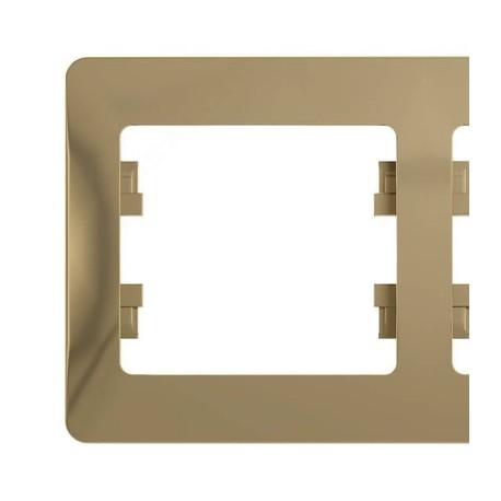 Schneider Electric Рамка горизонтальная 5 постов титан Glossa