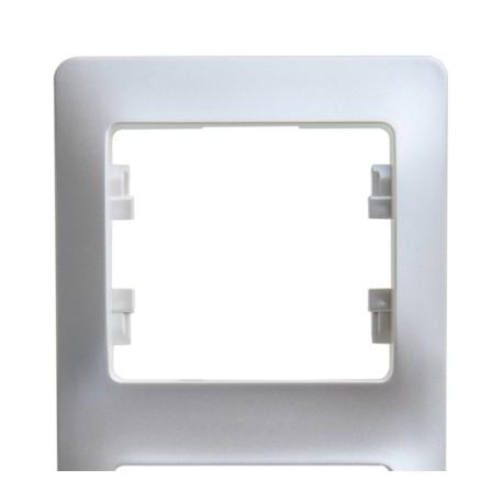 Schneider Electric Рамка вертикальная 2 поста алюминий Glossa