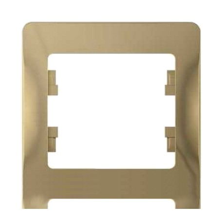 Schneider Electric Рамка вертикальная 4 поста титан Glossa