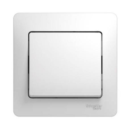 Schneider Electric Выключатель в сборе одноклавишный белый Glossa