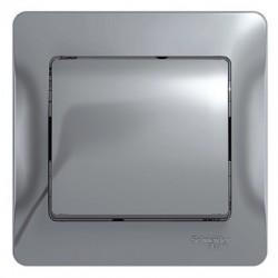 Schneider Electric Выключатель в сборе одноклавишный алюминий Glossa