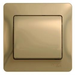 Schneider Electric Выключатель в сборе одноклавишный титан Glossa