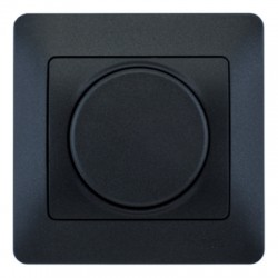 Schneider Electric Диммер поворотно-нажимной антрацит Glossa
