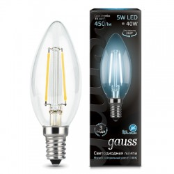 Gauss лампа светодиодная 240V Е14 5W 4100K