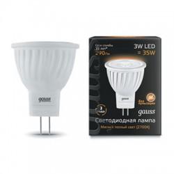 Gauss лампа светодиодная 240V GU4.0 3W 2700K