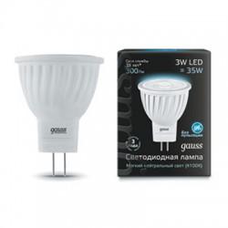 Gauss лампа светодиодная 240V GU4.0 3W 4100K