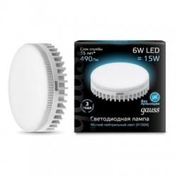 Gauss лампа светодиодная 240V GX53 6W 4100K