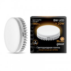 Gauss лампа светодиодная 240V GX53 8W 2700K