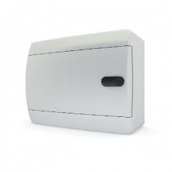 Бокc Tekfor на 8 модулей навесной IP41 непрозрачная белая дверца