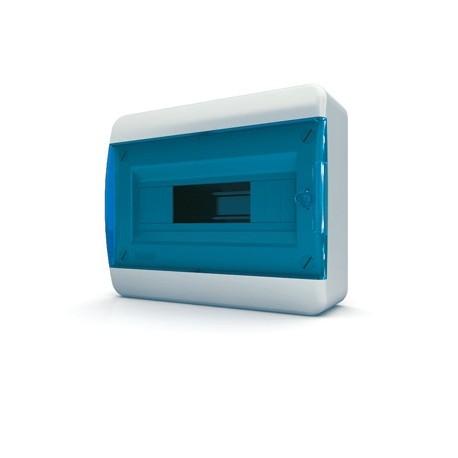 Бокc Tekfor на 12 модулей навесной IP41 прозрачная синяя дверца