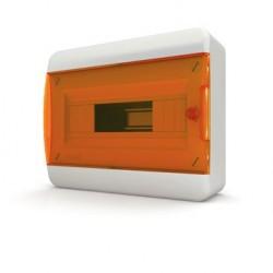 Бокc Tekfor на 12 модулей навесной IP41 прозрачная оранжевая дверца