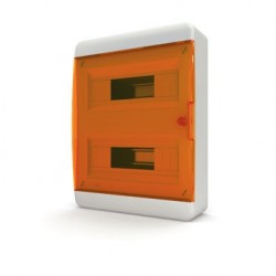 Бокc Tekfor на 24 модуля навесной IP41 прозрачная оранжевая дверца