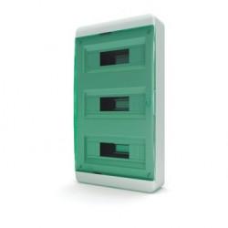 Бокc Tekfor на 36 модулей навесной IP41 прозрачная зеленая дверца
