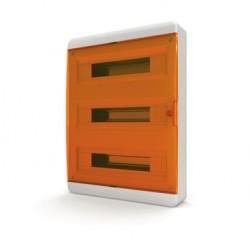 Бокc Tekfor на 54 модуля навесной IP41 прозрачная оранжевая дверца