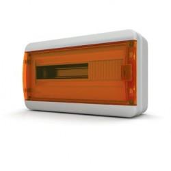 Бокc Tekfor на 18 модулей навесной IP65 прозрачная оранжевая дверца