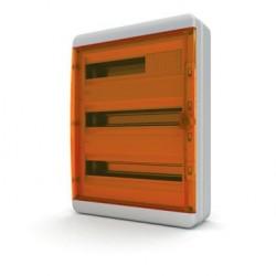 Бокc Tekfor на 54 модуля навесной IP65 прозрачная оранжевая дверца