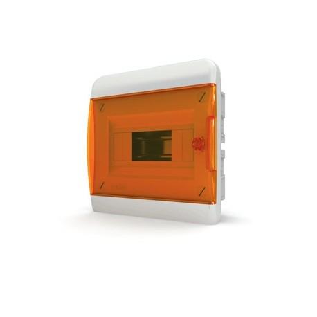 Бокc Tekfor на 8 модулей встраиваемый IP41 прозрачная оранжевая дверца