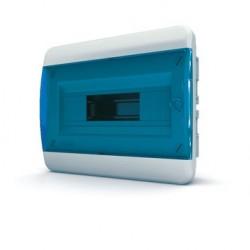 Бокc Tekfor на 12 модулей встраиваемый IP41 прозрачная синяя дверца