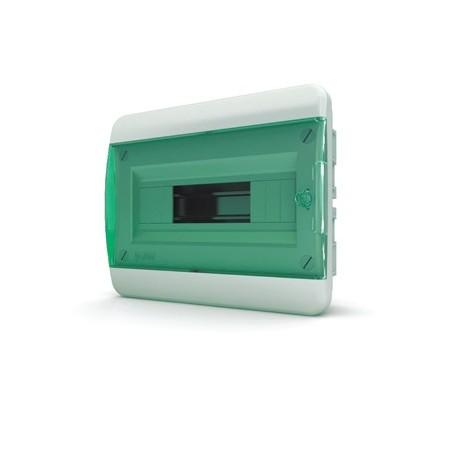 Бокc Tekfor на 12 модулей встраиваемый IP41 прозрачная зеленая дверца