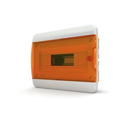 Бокc Tekfor на 12 модулей встраиваемый IP41 прозрачная оранжевая дверца