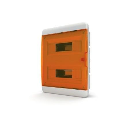 Бокc Tekfor на 24 модуля встраиваемый IP41 прозрачная оранжевая дверца