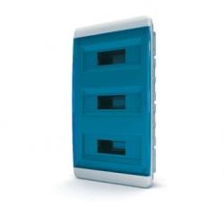 Бокc Tekfor на 36 модулей встраиваемый IP41 прозрачная синяя дверца