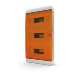 Бокc Tekfor на 36 модулей встраиваемый IP41 прозрачная оранжевая дверца