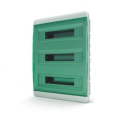 Бокc Tekfor на 54 модуля встраиваемый IP41 прозрачная зеленая дверца