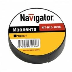 Изолента Navigator NIT-B15-10/BL чёрная