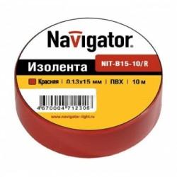 Изолента Navigator NIT-B15-10/R красная