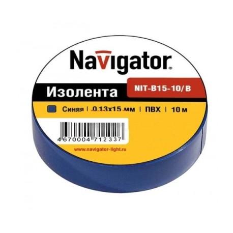 Изолента Navigator NIT-B15-10/B синяя