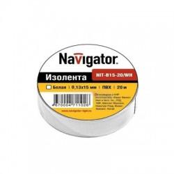Изолента Navigator NIT-B15-20/WH белая