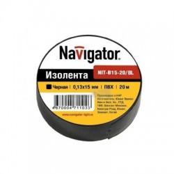 Изолента Navigator NIT-B15-20/BL чёрная