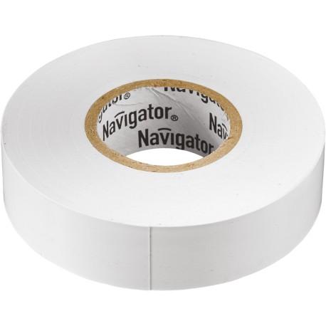 Изолента Navigator NIT-A19-20/WH белая