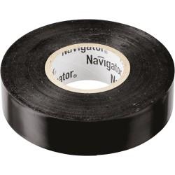 Изолента Navigator NIT-A19-20/BL чёрная
