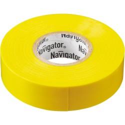 Изолента Navigator NIT-A19-20/Y жёлтая