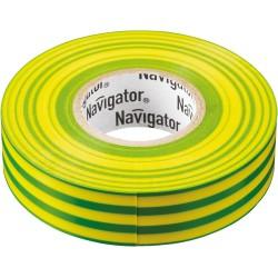 Изолента Navigator NIT-A19-20/YG жёлто-зелёная